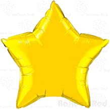 18 Inch Helium Foil Mylar Balloons (Premium Quality), Pack of 12, Star - Gold