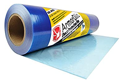 """ArmorDillo Strong 100% Made in America 24"""" x 200' Duct & HVAC Protection Film. Strongest, Easiest To Use Duct & HVAC Cover, Clear Protective Film, Surface Protection Film, Dust Protection Film"""