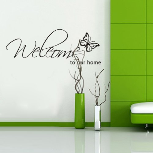 Wall Sticker Decal Mural Self Adhesive Paper Art Deco (Welcome To Our Home)