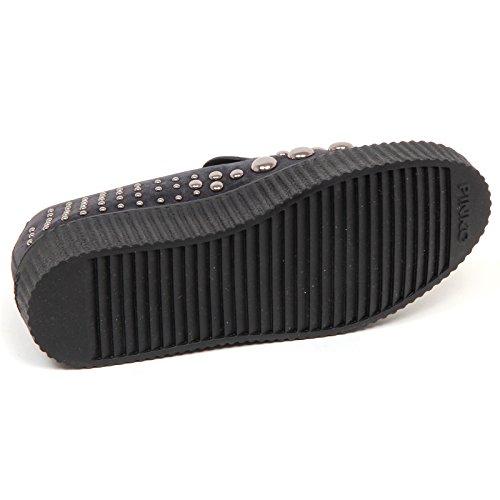 Donna Grigio Borchie On Scarpe Grey E6866 Dark Sneaker Shoe Scuro Pinko Woman Slip O5H4wPq