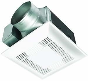 Panasonic fv 15vql5 whisperlite 150 cfm ceiling mounted fan light combination white bathroom for Panasonic bathroom fans with light