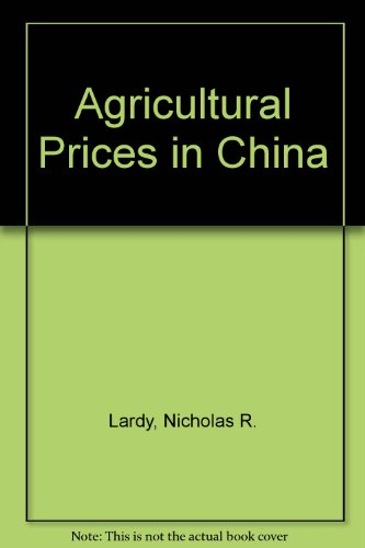 agricultural-prices-in-china-world-bank-staff-working-papers