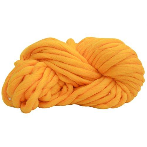 O-wool Classic Yarn (Wool Thick Line Wool Vibola Super Chunky Roving Big Yarn for Hand Knitting Crochet, 250g, lengh 35.2M for Diy Crocheting Blanket Thick Yarn Merino Wool Bulky Knitting Weave Your Favorite Blankets (B))