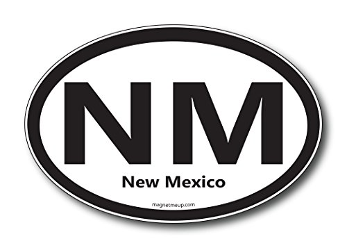 NM New Mexico Car Magnet US State Oval Refrigerator Locker SUV Heavy Duty Waterproof…