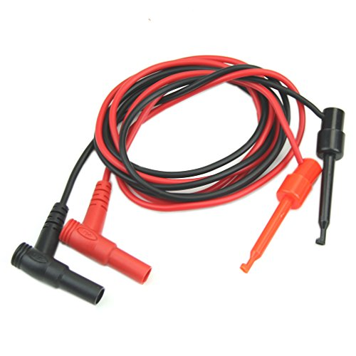 YSTD New 1Pair Banana Plug To Test Hook Clip Probe Cable Fr Multimeter Test Equipment