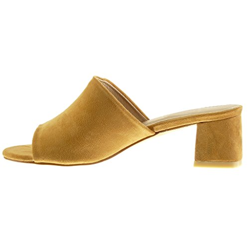 Sandale Bloc Talon Angkorly Camel Femme Mule 5 Chaussure cm 5 Mode FnfOfUY