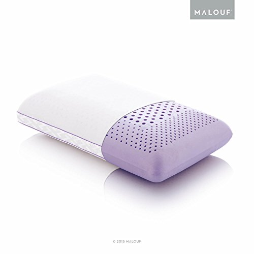 MALOUF Z Zoned Dough Memory Foam Infused with Real Natural Lavender Oil Aromatherapy Pillow Spray Included-Queen, - Spritzer Calming Aromatherapy