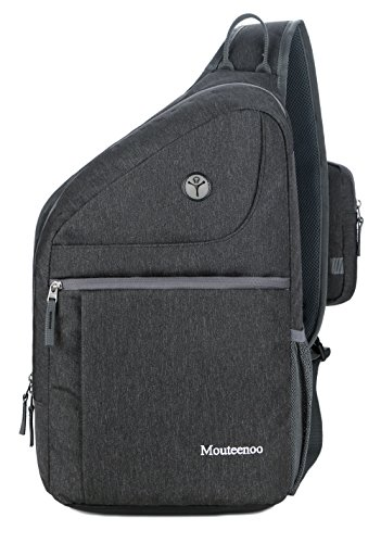 Sling Backpack for Men and Women Bag - Mouteenoo (Dark Grey)