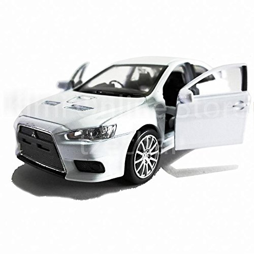 Welly 1:34-1:39 Die-Cast Mitsubishi Lancer Evolution X Car White Color Model Collection Christmas New (Used Mitsubishi Lancer)