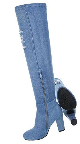 Party Boots Reizend Optik Schuhcity24 Leder Stiefel Stiefel Stiefel Club Langschaft Boots Jeans Stiefel Blockabsatz Gogo Damen Overknee Langschaftstiefel Overknees nr0xWCawn