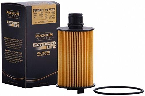 Premium Guard Oil Filter, Extended Life PG6290EX | Fits 17-18 Jaguar F-Pace, XE; 14-17 Jaguar F-Type, XJR; 14-18 Jaguar F-Type; 10-15 Jaguar XF, XFR, XK, XKR; 11-12 Jaguar XF; 12-18 Jaguar XF (Type Xf Jaguar)