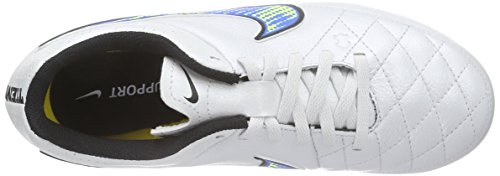 Nike black soar Firm White Leather Boots Unisex Ground 174 Genio Tiempo Football White Kids' volt rUpn7rO