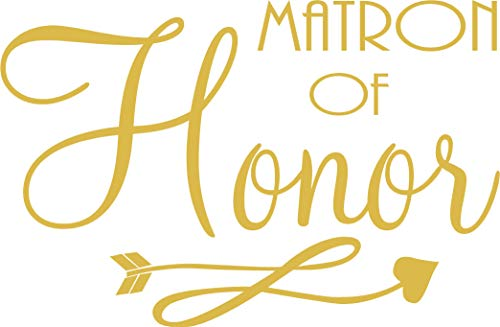 Matron of Honor - Bachelorette Heat Transfer Iron on Stencils for Wedding (Gold)
