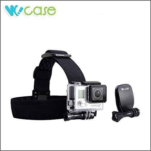 WoCase® Adjustable (Anti-Slippery) Head Strap Mount and Quick Clip Mount for GoPro HERO3+ 3 2 1 Cameras (Go Pro Hero3 Head Strap compare prices)