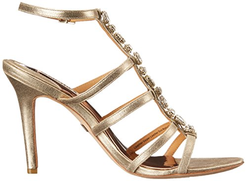 Dress Sandal II Platino Mischka Badgley Women's Suede Metallic Elect aX7wIq
