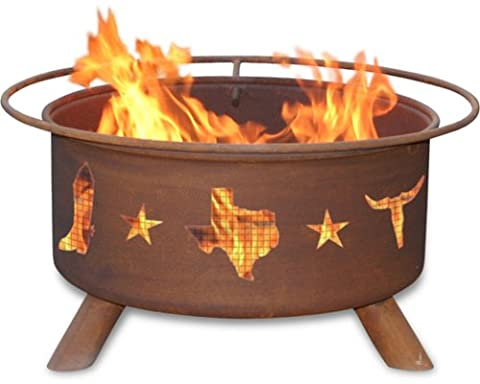 Patina Products F115, 30 Inch Lone Star Fire Pit (Moose Fire Pit Ring)