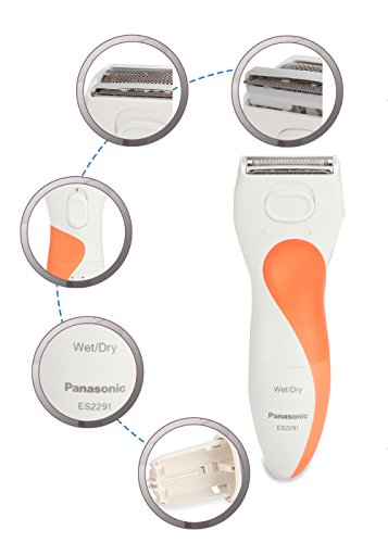 Panasonic ES2291D Washable Wet Dry Ladies Shaver Battery Operated