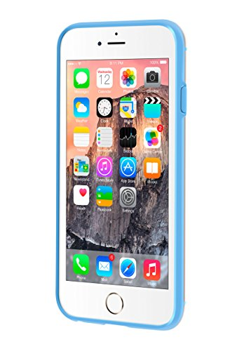 iPhone 6s Plus Case, roocase Slim Fit [FUSION Hybrid Series] Crystal Clear PC / (Blue) TPU Trim Case Cover for Apple iPhone 6 Plus / 6s Plus (2015)