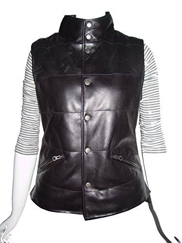 Nettailor 4105 Classic Leather Moto Vests Women Genuine - Vest Lambskin Leather Ladies