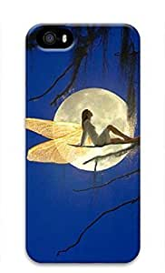 3D Hard Plastic Case for iphone 6 4.7G,Fairy under Moonlight Case Back Cover for iphone 6 4.7