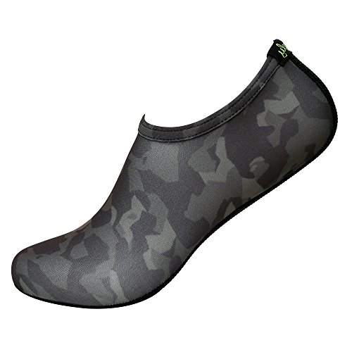 Freely Barefoot Water Skin Shoes Aqua Socks for Beach Swim Surf Yoga Exercise Camouflage 5. XL (US M:7.5~9, W:8.5~10)