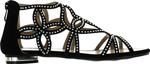 Image of Forever Tory-63 Womens Cut Out Back Zip Flat Sandals
