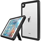 Vapesoon iPad Mini 4 Waterproof Case,Waterproof Shockproof Snowproof Clear Case with Adjustable Tablet Stand Compatible iPad Mini 4 Black-/Clear (7.9 inch)
