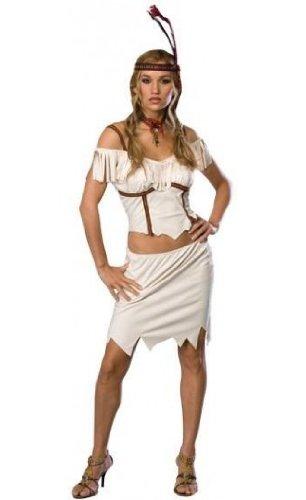 Adult Pocahontas Sexy Costume (Extra-Small) White ()