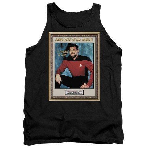 Adult Tank Top Trevco Star Trek-Employee of Month Black44; 2X