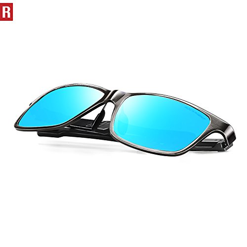 f05729c015 ROCKNIGHT Polarized UV Protection Driving Sunglasses for Men Wayfarer Metal  Frame Al-Mg Lightweight Outdoors Sunglasses