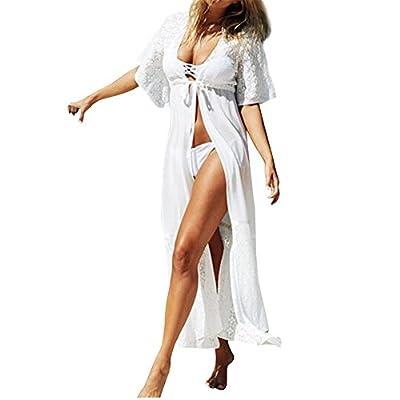 Wispun Long Maxi Beach Dress Swimsuit Sunscreen Bikini Cover-Up