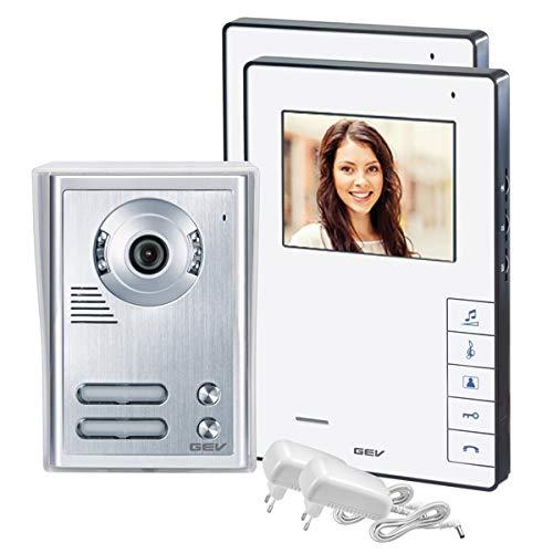 GEV  88337 2- Familienhaus Video-Tü rsprechanlage CVB, 1 Stü ck, silber/weiß
