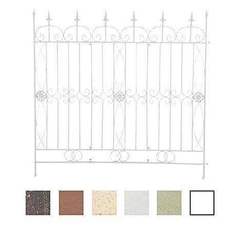 Recinzione Giardino In Ferro.Clp Recinzione Da Giardino In Ferro Mangold 125x115cm I Sostegno