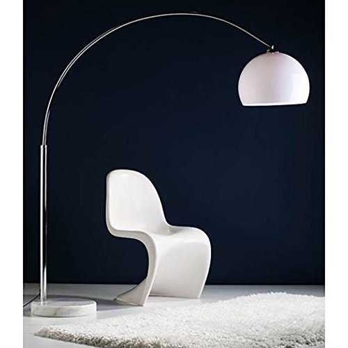 BIG BOW RETRO DESIGN BOGENLEUCHTE mit DIMMER LAMPE Lounge Stehlampe Bogenlampe