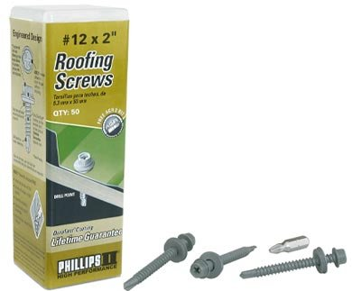 """Roofing Gray 12 x 1"""" Drill Point"""