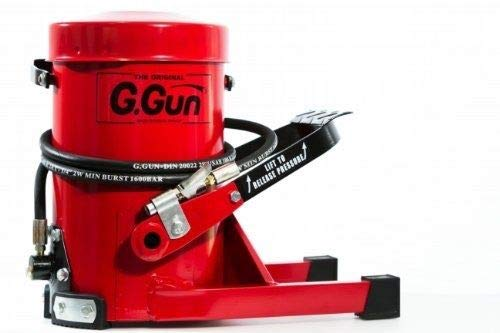 G. Gun Grease Gun - Quick and Easy Greasing - 10 Foot Flex Hose - LockNLube Grease Coupler Included - no Mess, no Waste - Industrial Strength Construction - 10,000 Psi Foot Operated by G.Gun (Image #7)