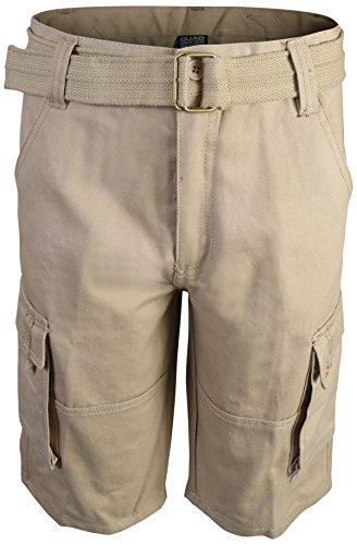 Quad Seven Boys Brushed Twill Cargo Belted Shorts, Khaki, Size (Brushed Twill Trousers)