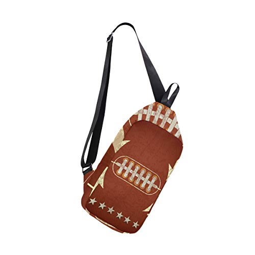 Bag Men Women Small Chest Shoulder For Backpack Bennigiry American Cross Sling Football amp; Waterproof Body wRqRxTv6n