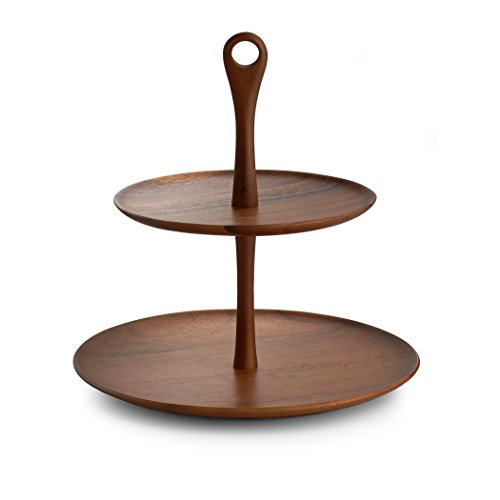Nambé MT0898 Tiered Dessert Stand, Wood