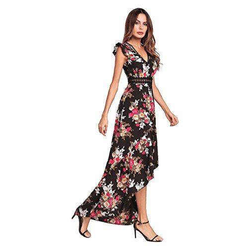 Kleid der Frau Frau Kleid lange Kleider fliegen Ärmel unregelmäßigen ...