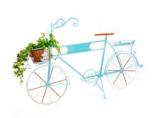 Fahrrad / Pflanz-Fahrrad Metall Blau 100cm x 160cm x 50cm