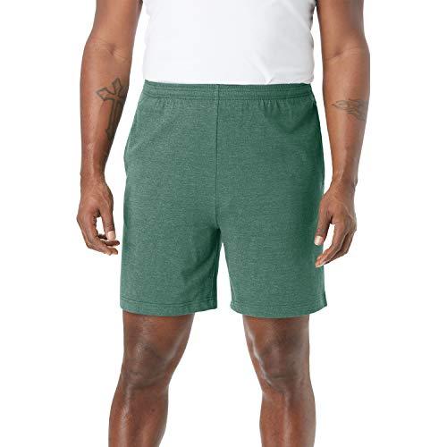 KingSize Men's Big & Tall Lightweight Jersey Shorts, Heather Hunter Tall-3XL ()