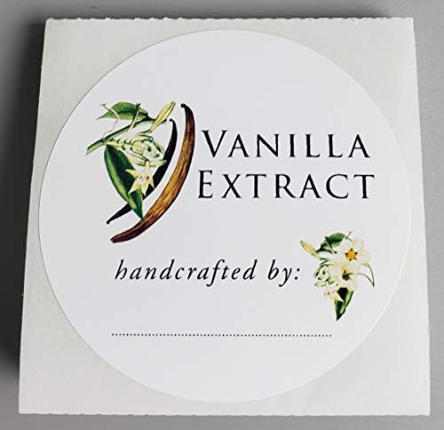 Bottle Vanilla Extract - VANILLA EXTRACT LABELS (Botanical Design) - 2