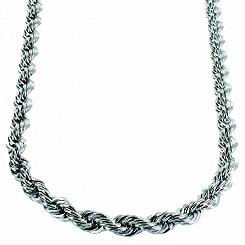Collier Femme-Argent Diamant coupe corde chaîne 55cm 6mm