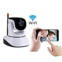 Dome IP Camera, Wireless IP Camera 720P HD WiFi Security Camera Baby Monitor Play Plug Home Monitor Security Surveullance Video Camera With Night Vision and Motion Detection