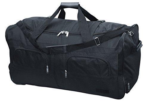 McAllister Travel System Sac de voyage avec Rolen Chariot Sac de sport Sac de voyage Noir 60L 80L 100L ou 140L - 100 litres
