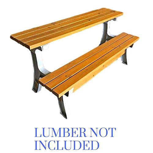 STS SUPPLIES LTD Outdoor Convertible Bench Patio Bench Outdoors Seat Folding Dining Bench Garden Outside Furniture Wood Not Included & Ebook - Garden Convertible Bench