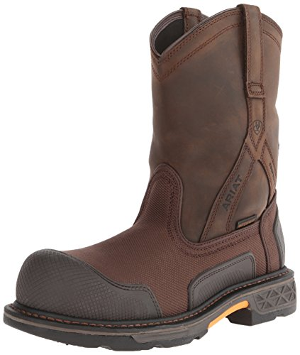 Distressed Oil - Ariat Men's Overdrive XTR Pull-on H2O Composite Toe Work Boot, Brown Cordura/Oily Distressed Brown, 8.5 M US