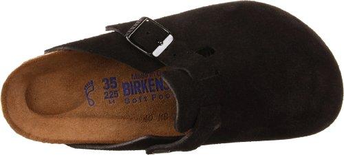 Birkenstock Unisex Boston Soft Footbed, Black Suede, 36 N EU by Birkenstock (Image #7)