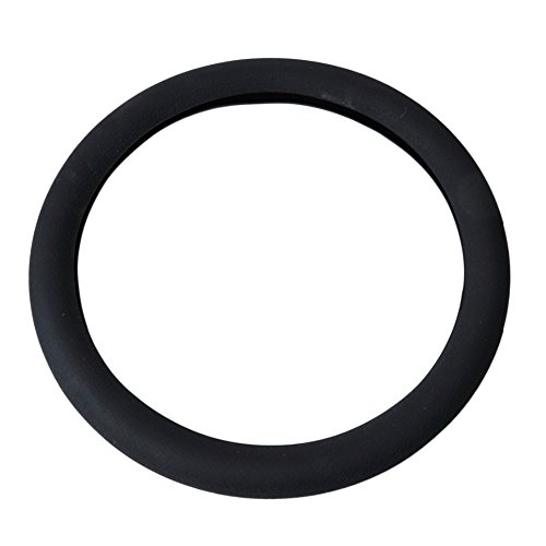 Soft Silicone Steering Wheel Cover Shell Skidproof Odorless Eco Friendly for Mercedes Audi Nissan VW Peugeot Mazda (black) (Ben Leather Belt)